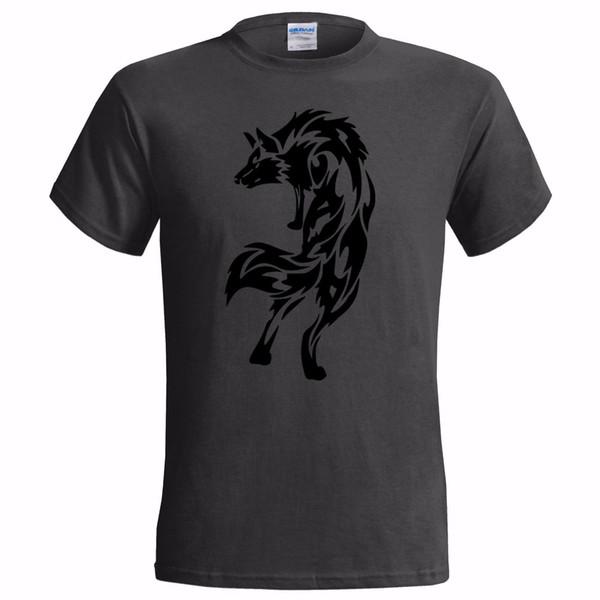 TRIBAL WOLF DESIGN MENS T SHIRT NATIVE AMERICAN SPIRIT INDIAN ART TATTOO size discout hot new tshirt