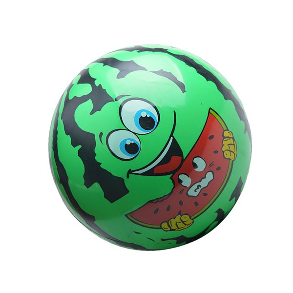 "best selling Watermelon Face Children Inflatable Blow-up Ball Beach Pool Toy 8.66"" Green"