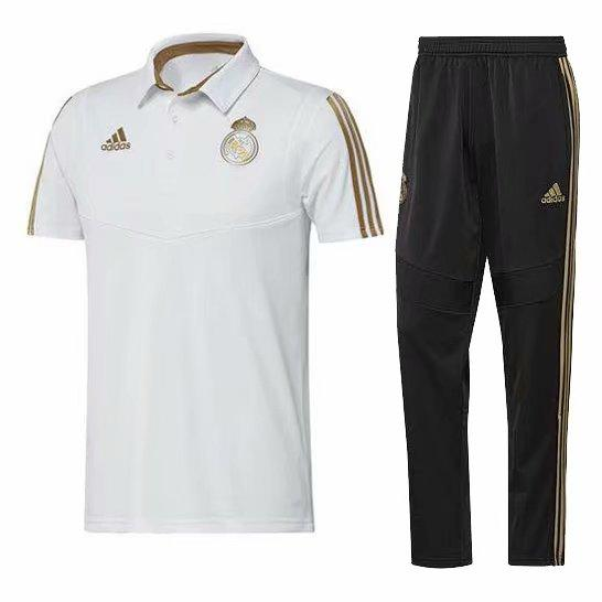 best selling Newest Real Madrid jacket Bell short sleeves 2019-20 RMA tracksuits soccer jersey Isco polo T-shirt benzema Hazard training shirt