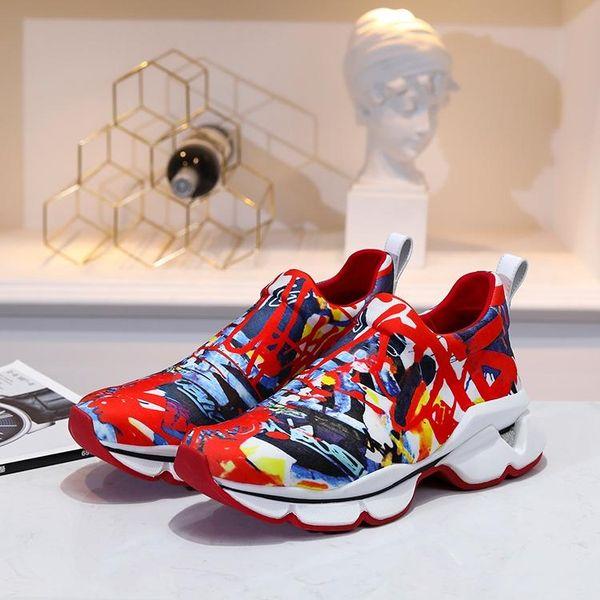 New Items Krystal Spike Sock Donna Flat Men Sneakers Designer Luxury Mens Red Bottoms Shoes Womens Rivet Spiky Sock Junior Spikes Flat Shoes