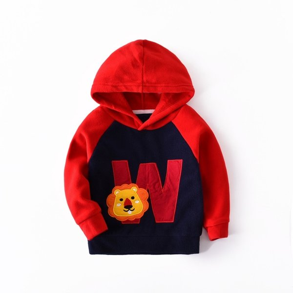 BibiCola boys&girls hoodies autumn kids boys casual clothing children outwear animal&letters printing pullovers tops hoodies