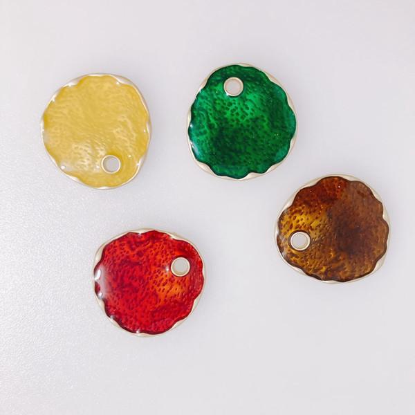 4 parti / lotto I nuovi orecchini di goccia di olio a goccia colore in lega di personalità orecchini accessori materiale Altro