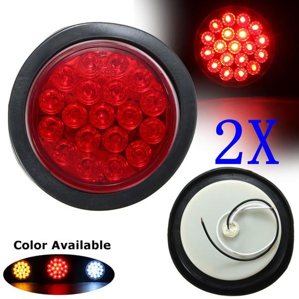 Kırmızı Sarı Beyaz 19 SMD Araba Yuvarlak Kuyruk Işıkları Dönüş Singal Işık ATV LED Reflektörler Kamyon Yan Marke Göstergesi Uyarı Işıkları