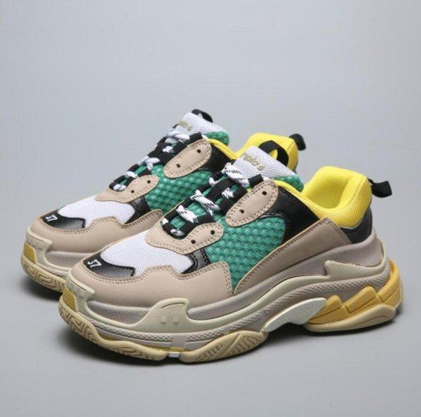 NEWloafers für männer für männer Triple S Freizeitschuh Männer Frauen Sneaker Hohe Qualität Mischfarben Starke Ferse Opa Freizeitschuhe größe 36-45