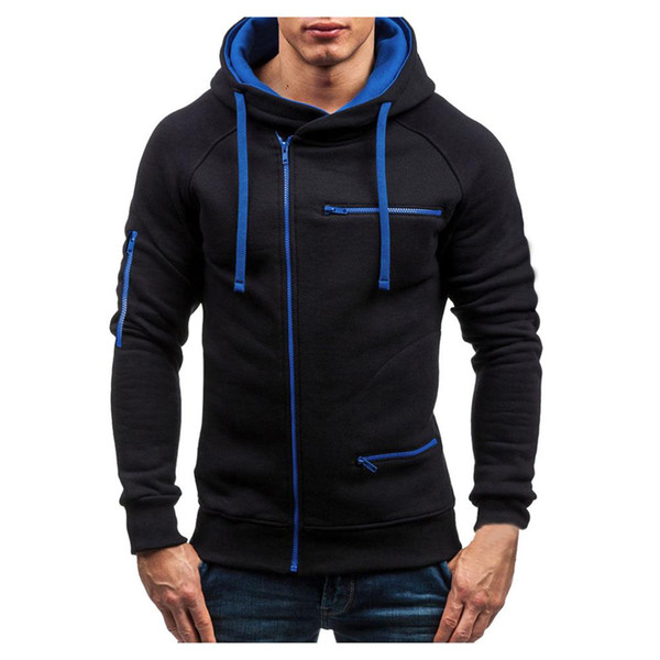 Men's Long-sleeved Casual Jacket Outwear Sports-wear Solid Color Suit Foreign Trade Home Service Pajamas Outdoor Autumn Jacket