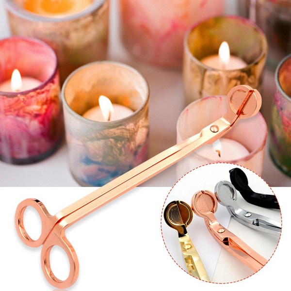 best selling Stainless Steel Candle Wick Trimmer Oil Lamp Trim scissor Cutter Snuffer Tool Hook Clipper YD0514