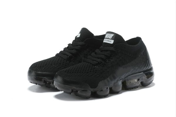 02 2018 Kids Running shoes Triple black Infant Sneakers Rainbow Children sports shoes girls and boys High quality Tennis trainers