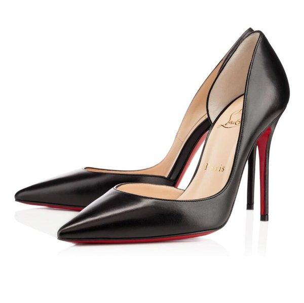 Cristãos clássicos Mulheres Red Bottom Bombas de Salto Alto Peep Toe Stiletto Sapatos de Plataforma de Couro de Patente Matte color08CM 10 CM
