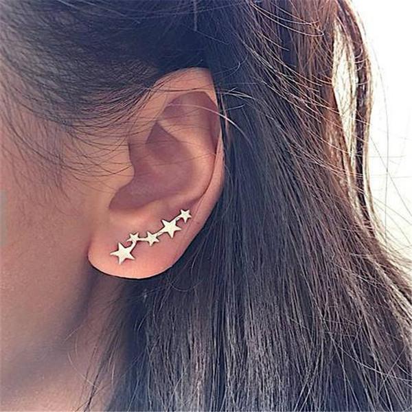2019 latest design  earrings female models five stars earrings gifts for women