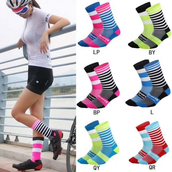 Mens//Womens Cycling Socks Anti-Sweat Bike Short Hose Breathable Black//Gray//White