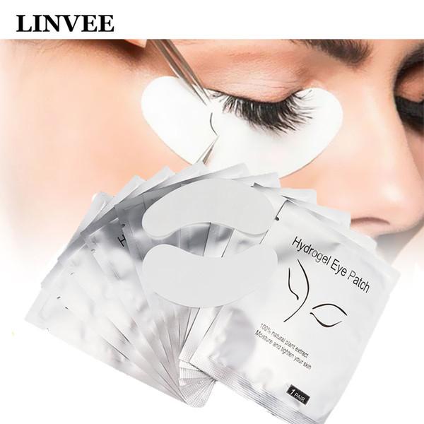 Ciglia rilievi dell'occhio Ciglia finte patch innesto Eye 50/100 coppie di due stili modello pelucchi monouso autoadesivo della zona Wrap utensili