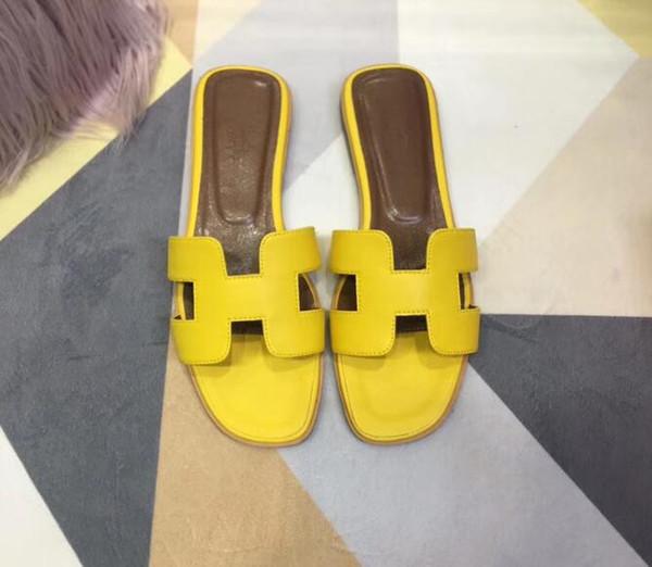 2019 nouvelle marque femmes sandales grande taille 35-42 designer chaussures luxe diapo mode d'été large sandales glissantes plates pantoufle tongs