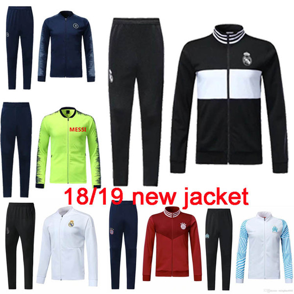 high qualityReal Madrid soccer jacket 2018/19 chandal full zipper tracksuit 18 /9 de foot ISCO Real Madrid jacket Chandal Training suit kit