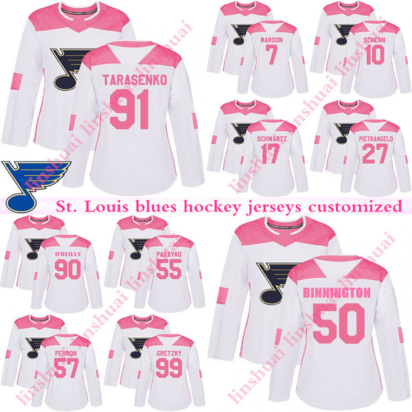 best sneakers 7b2cc 45e1f 2019 St. Louis Blues Jersey 91 Vladimir Tarasenko 90 Ryan O'Reilly 50  Binnington 27 Alex Pietrangelo 17 Schwartz 7 Patrick Maroon Hockey Jerseys  From ...