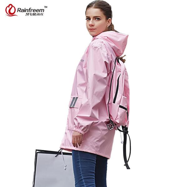 QINFEIMAN Impermeable Cycling Raincoat Women/Men Rain Jacket Motorcycle Raincoat Waterproof Rain Poncho Rainwear Gear #219909