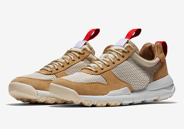 2017 Release Tom Sachs x Craft Mars Yard 2.0 TS Joint Limited Sneaker Top Quality Natural Sport Red Maple Running Shoes AA2261-100 US 5-11