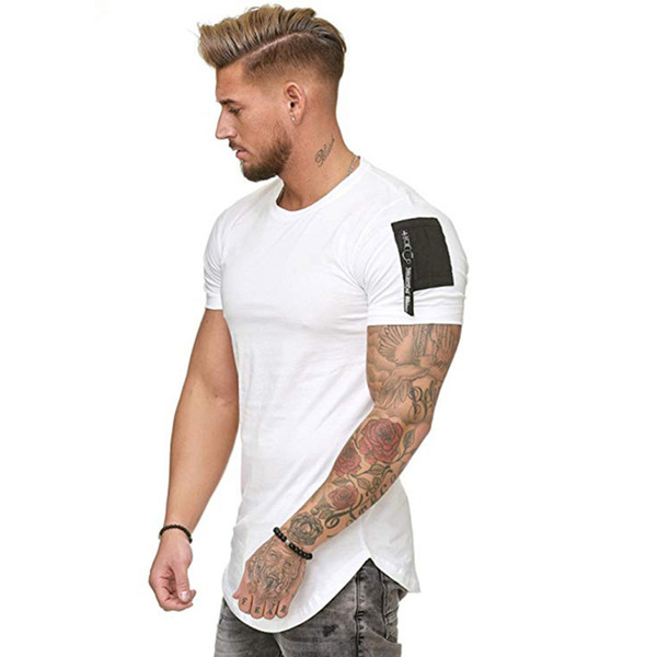 Men's T Shirt Men Fashion T-shirts Fitness Casual For Male T-shirt Free Shipping Men's Plus Size O-neck T Shirt Casual Sports