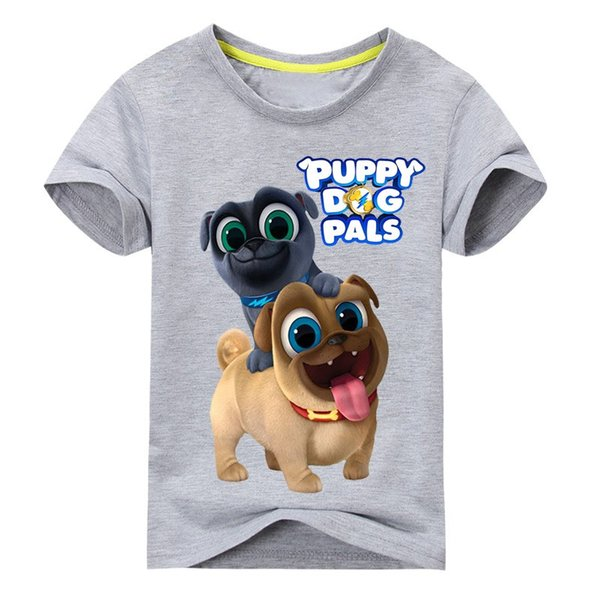 846cf17dc Summer Cartoon Puppy Dog Pals Print Tee Tops For Boy Girls Clothing Children  White 3D Funny