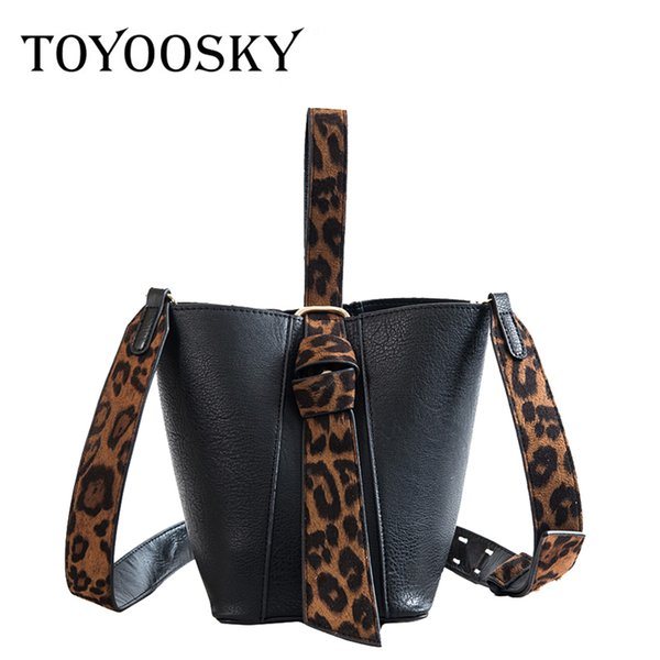 toyoosky 2 pcs/set bucket bags for women 2018 female pu leather small crossbody bags ladies leopard print new handbags and purse