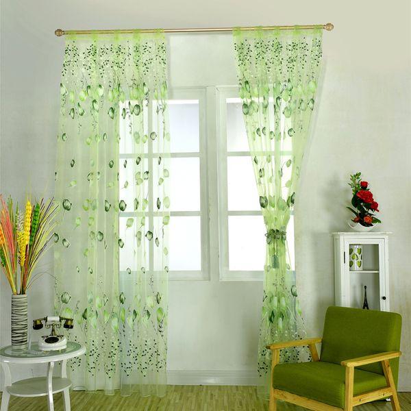 Mutfak Pencere Lale Çiçek İplik Şeffaf Perde Boncuk Püskül Kapı Eşarp Perdeler Pencere Dekor Çiçek İplik