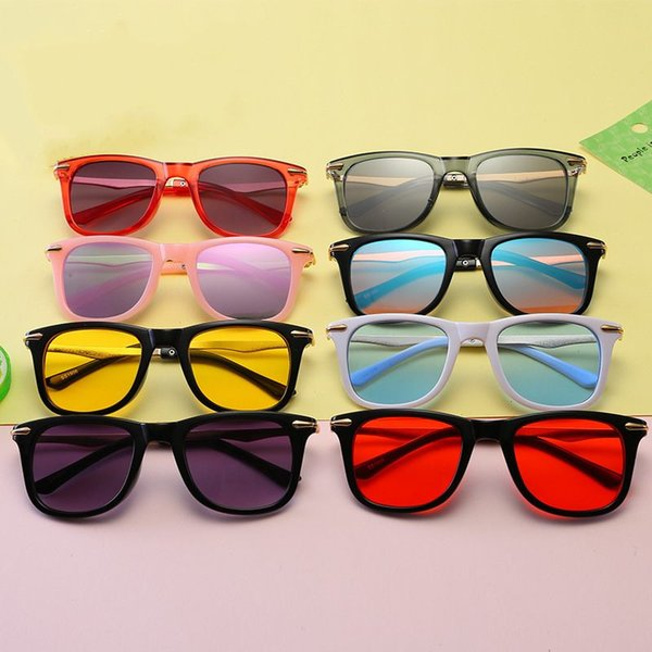 Kids Sunglasses Baby Sun Sunglasses Beach Supplies UV400 Protective Eyewear PC+Metal Frame For Boys Girls Sunshades Glasses Q35