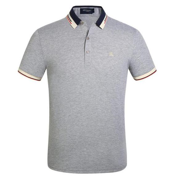 Homens de luxo Designer de Camisas Polo Verão Clássico Camiseta de Manga Curta Moda Turn Down Collar Polos m-3XL