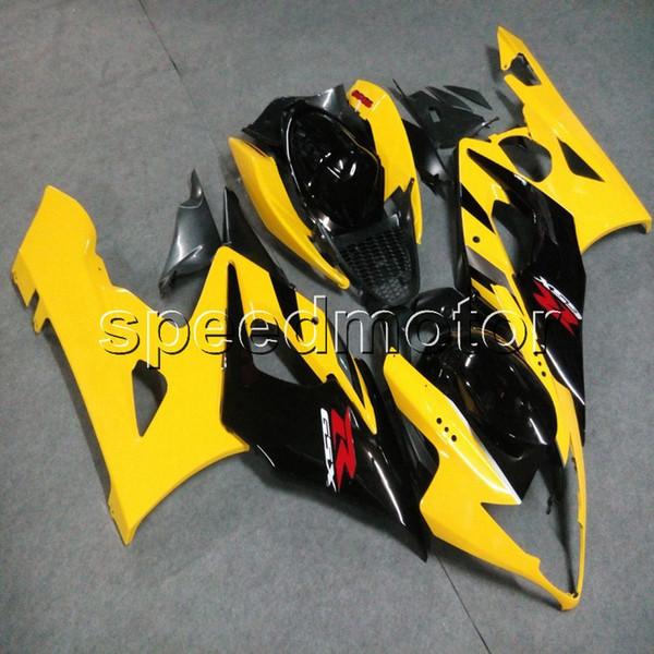 Tornillos + regalos Moldeo por inyección Carenado de la motocicleta amarilla Carenado para Suzuki GSX-R 1000 05 06 GSXR1000 2005 2006 K5 kit de plástico ABS