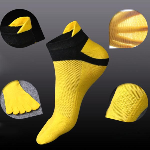 1 paire de chaussettes de course en coton pur respirant à cinq doigts de la cheville chaussettes de sport chaussettes de cyclisme chaussettes randonnée compression hommes