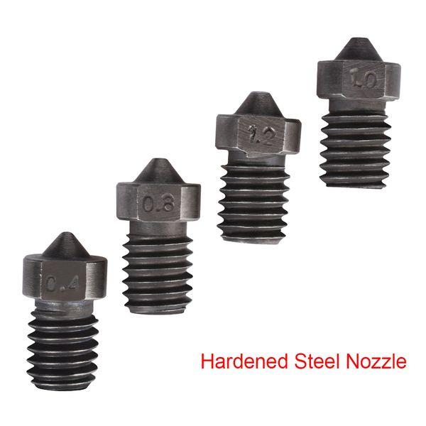 싼 3 프린터 부품 액세서리 3D 프린터 부품 Hardened 스틸 노즐 E3D v6 노즐 V6 Hotend Kit Bowden Extruder1.75mm 필라멘트