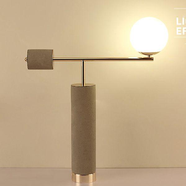 Mordern Lámpara de mesa dormitorio mesita de noche luz hogar iluminación escritorio luminarias luminiare