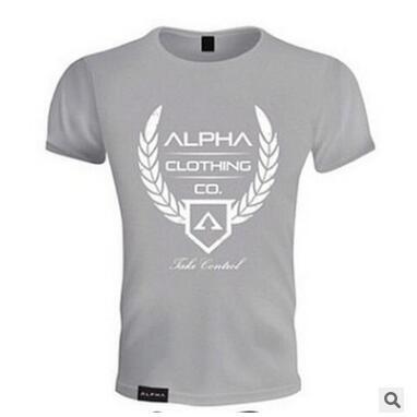 Spor Pamuk Crossfit t gömlek Koşu Gömlek Erkekler Çabuk Kuru Kısa Kollu Spor T-Shirt Spor Eğitimi Tees En Spor gömlek Rashgard