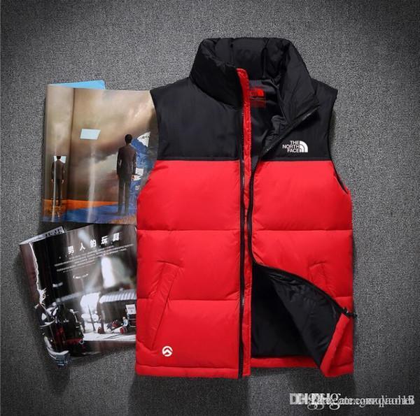 En gros, vente au détail nouvelle marque double face de haute qualité hommes Down Down Vest Down veste manteau manteau épais sportswear hiver Vest pour hommes
