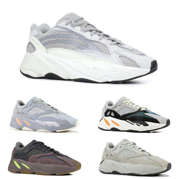 Erkekler kadınlar için 700 Dalga Koşucu koşu ayakkabıları Statik 3 M yansıtıcı Atalet Mauve Çok Katı Gri erkek eğitmenler spor Sneakers ücretsiz kargo