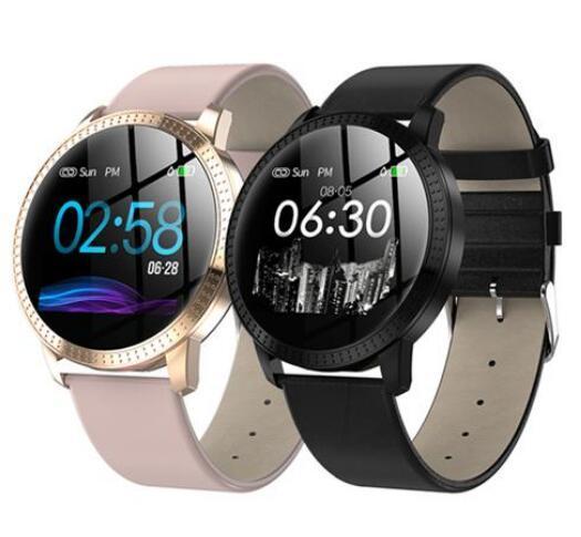 CF18 Smart Watch OLED-Farbbildschirm Smartwatch Mode Fitness Tracker Herzfrequenz-Blutdruckmessgerät für Männer Frauen Freies Verschiffen