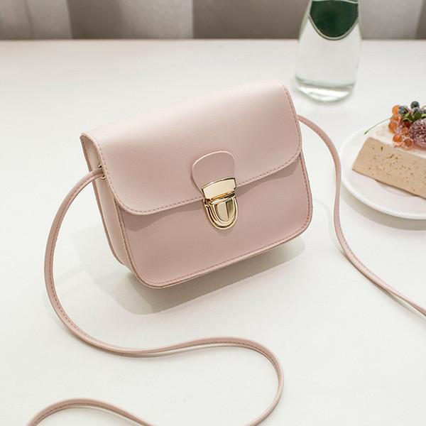 Женщины Messenger сумки женщины сумка 2018 известных брендов женщины мода сплошной цвет крышка блокировки плеча Crossbody телефон пляжная сумка мешок