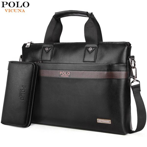 Compre Top Sell Fashion Simple Dot Marca Famosa Hombres De Negocios Maletín Bolsa De Cuero Laptop Bag Casual Hombre Bolsos De Hombro A $37.7 Del