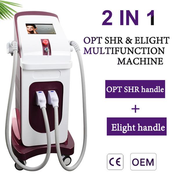 2019 OPT SHR IPL épilation au laser machine elight traitement de l'acné laser beauté machine traitement IPL peau claire
