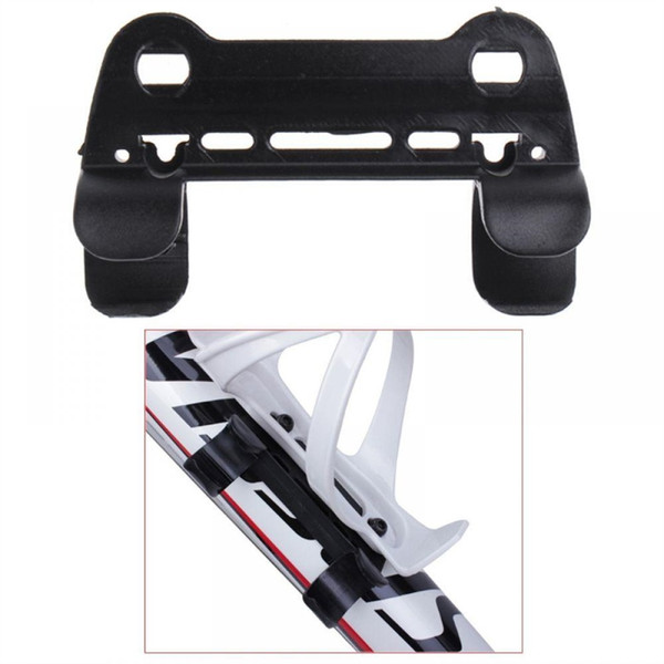 New 1pc Bicycle Pump Holder Double Fixed Clip Mount Nylon Portable Cycling Accessories #304006