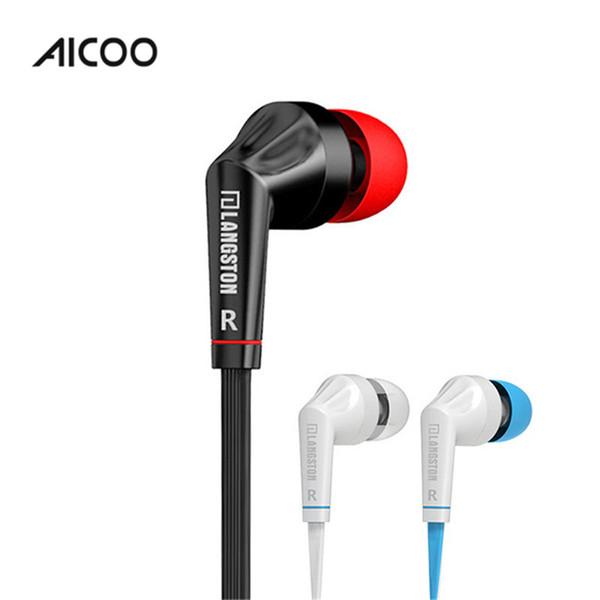 Aicoo Universal Ear Buds Wired Kopfhörer Stereo Headhones mit Mikrofon Mic und Lautstärkeregler für Iphone Ipad Andrid Kleinpaket