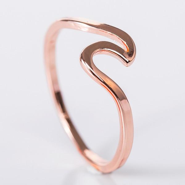 Casamento de luxo designer de jóias anéis Novo Estilo Rodada anéis de diamante para mulheres magras Rose Gold Cor Stacking torção corda em aço inoxidável