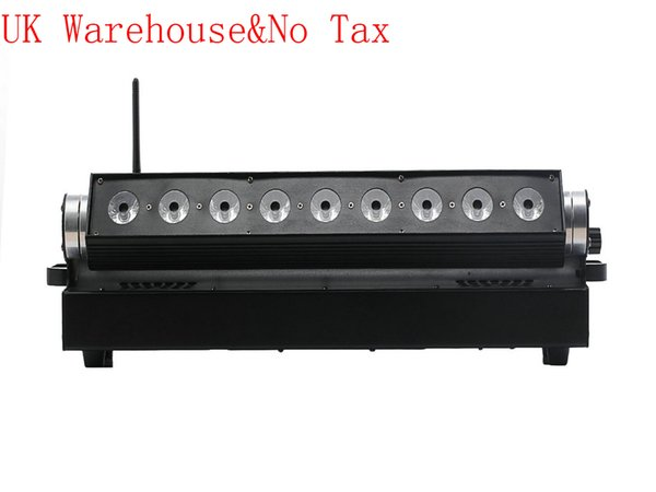 4X UK Stock 9 * 18W 6in1 RGBAW UV a batteria senza fili LED Wall Washer Light Stage Lighting Luci DJ PER PARTY