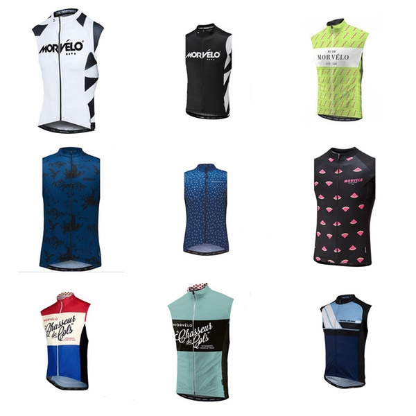 2019 Morvelo Cycling Sleeveless jersey Vest Clothing Pro Team MTB Road Bike Bicycle Top Shirts Cycle Clothing Ciclismo K032205