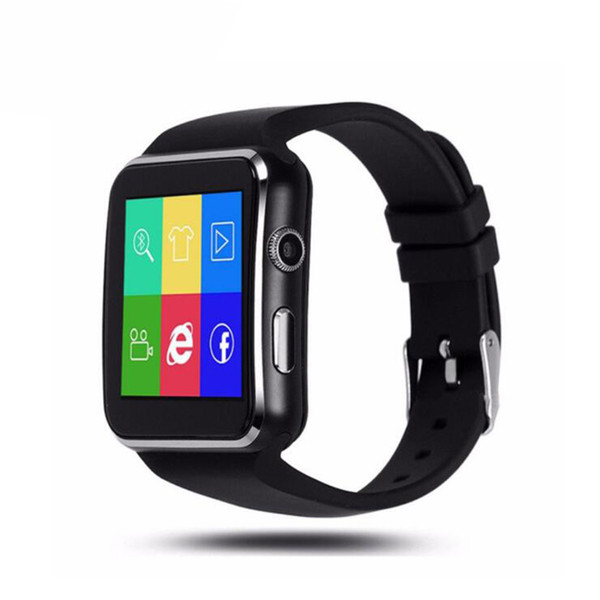 Smart watch Curved Screen X6 Smart watch bracelet Phone with SIM TF Card Slot with Camera for Samsung android smartwatch