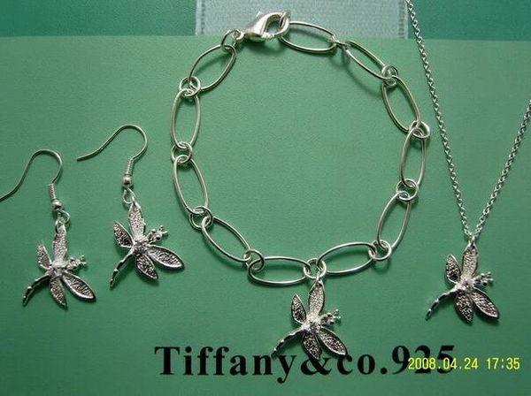 Venta al por mayor - Colgante de plata 925 de la mariposa del regalo de Navidad del precio más bajo al por menor, amor marca Necklace + Bracelet + earringsset con la caja