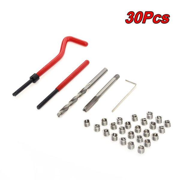 30pcs M6 x 1.0 Thread Repair Insert Kit Compatible Car Pro Coil Tools thread repair kit including wire insert sizes M6