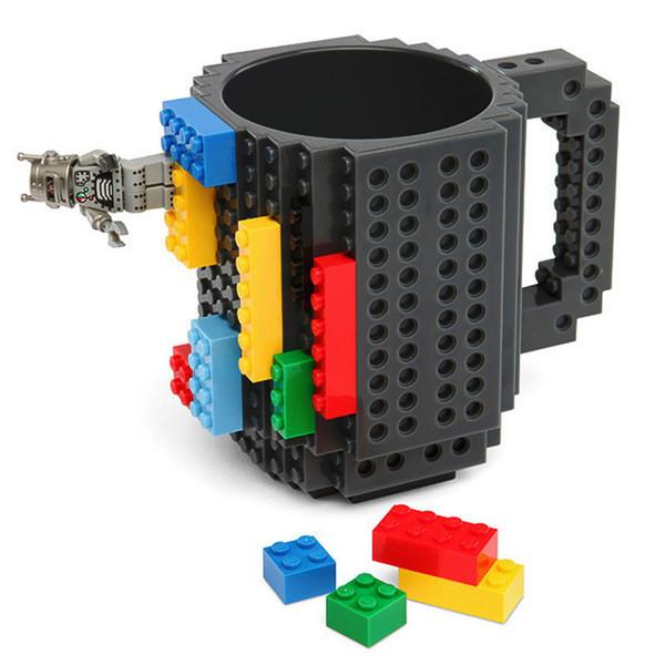Build on Brick Mug Cups 350ml Creative Milk Mug Coffee Cup Creative Drinking Water Holder Building Blocks Desig