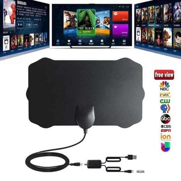 80 Milhas HDTV HD Antena HD TV Antena Interna com Amplificador de TV Raio de TV VHF UHF 28 dBi HD Antenas de TV aérea