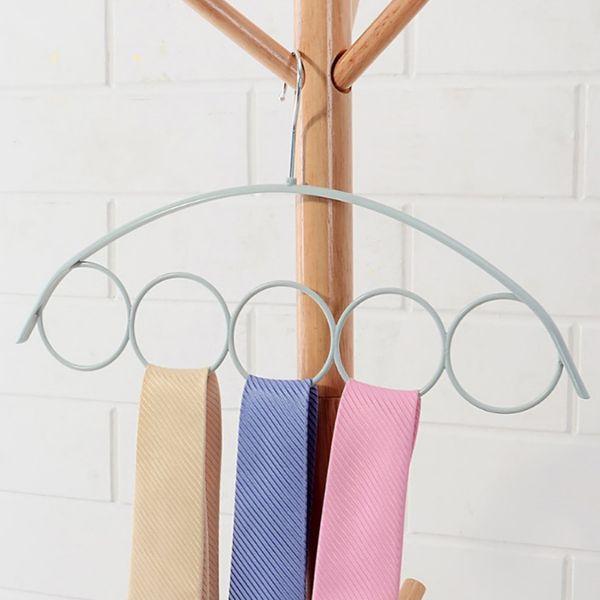 stenditoio accessorio della sciarpa dello scialle gancio cintura Tie Rack 5 Anello supporto dell'organizzatore gancio dell'esposizione gancio lavanderia Organizzazione bagagli