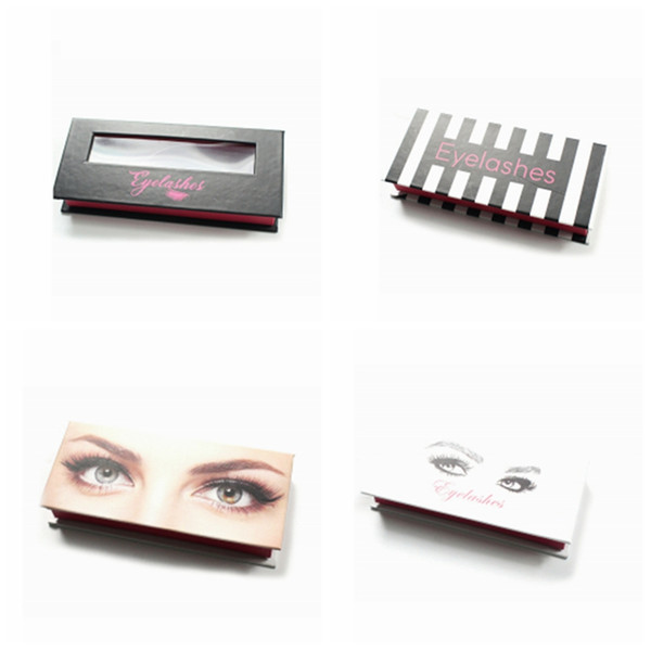 Empty Magnetic Eyelash Package Box Cardboard Magnetic Box Packaging False Eyelashes Packaging Fake Eye Lashes Package Box 100pcs/set RRA916