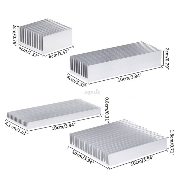 Disipador de calor de aluminio extruido para LED de alta potencia Chip IC enfriador del radiador del disipador de calor nave de la gota